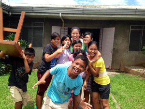 Emily Labattaglia '15 volunteered at the Bethany House Santo Niño Orphanage in Bulacan, Philippines, with the Dominican Sisters of St. Joseph.